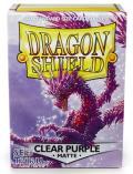 KÁRTYAVÉDŐ / DECK PROTECTORS - Dragon Shield Matte Sleeves Clear Purple (100)