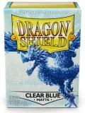 KÁRTYAVÉDŐ / DECK PROTECTORS - Dragon Shield Matte Sleeves Clear Blue - Celeste (100)