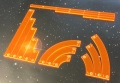 Star Wars - X-Wing - Template Set Compatible with X-Wing Orange Red
