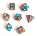 D&D DOBÓKOCKAKÉSZLET MINI Fairy réz/türkiz / FAIRY DICE SET MINI Dual Color Copper/Teal (7)
