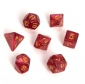 D&D DOBÓKOCKAKÉSZLET MINI Fairy vörös/csillám / FAIRY DICE SET MINI Dual Color Red/Glitter (7)