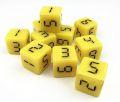 10d6 digitális számokkal sárga / 10d6 w/ Digital Numbers 16mm Yellow