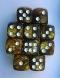 10d6 12 mm gyöngyház okker / 10d6 12mm Pearl Ochre
