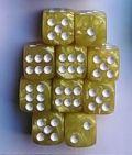 10d6 12 mm gyöngyház sárga / 10d6 12mm Pearl Yellow