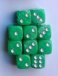 10d6 12 mm gyöngyház világoszöld / 10d6 12mm Pearl Ligh Green