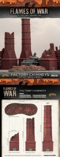 15mm WW2 Scenery - Factory Chimneys (4)