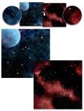 Game Mat - Frozen Planet / Crimson Gas Cloud Gaming Mat
