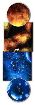 Game Mat - Ice Comets / Fiery Nebula Gaming Mat