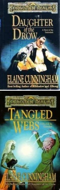 STARLIGHT AND SHADOWS - VOL. 1-2. (DAUGHTER OF THE DROW + TANGLED WEBS) (used)