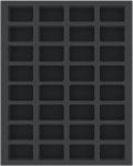 Feldherr FSMEDS040BO 40 mm Full-Size Foam Tray with 32 Compartments