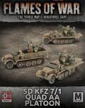 15mm WW2 German SdKfz 7/1 Quad AA Platoon (3)
