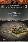 15mm WW2 German 8.8cm Pak43 Tank Hunter Platoon (2)
