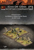 15mm WW2 Russian 82mm or 120mm Mortar Company (6 Teams) (Plastic)