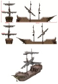Icons of the Realms - THE FALLING STAR SAILING SHIP