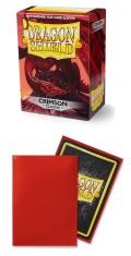 KÁRTYAVÉDŐ / DECK PROTECTORS - Dragon Shield Classic Sleeves Crimson (100)
