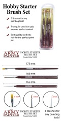 Ecsetkészlet - ARMY PAINTER HOBBY STARTER BRUSH SET - Standard, Small Detail, Drybrush