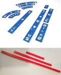 Star Wars - X-Wing - Template Set Compatible with X-Wing Blue w/ Red Range Rulers