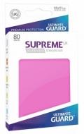 KÁRTYAVÉDŐ / DECK PROTECTORS - Ultimate Guard Supreme Sleeves - Solid - Pink (80)