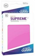 KÁRTYAVÉDŐ / DECK PROTECTORS - Ultimate Guard Supreme Sleeves - Solid - Matte Pink (80)