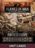 Flames of War - British Fortress Europe Unit Cards (24)