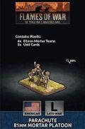 15mm WW2 US Parachute Mortar Platoon (4) (Plastic)