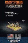 15mm WW2 US 81mm Mortar Platoon (6) (Plastic)