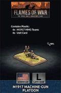 15mm WW2 US M1917 Machine Gun Platoon (4) (Plastic)
