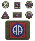 Flames of War - US 82nd Airborne Division Tokens (20) & Objectives (2)