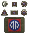 Flames of War - US 101st Airborne Division Tokens (20) & Objectives (2)