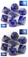 D&D DOBÓKOCKAKÉSZLET Galaxy kék / DICE SET Galaxy Blue (7)