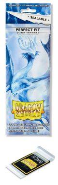 KÁRTYAVÉDŐ / DECK PROTECTORS - Dragon Shield Standard Perfect Fit Sealable Sleeves - Clear - Thindra