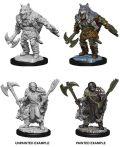 D&D Nolzur's Marvelous Minis - Male Half-Orc Barbarians (2)