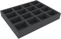 Feldherr FSMEFP050BO 50 mm Full-Size Foam Tray with 16 Compartments