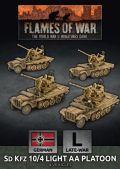 15mm WW2 German SdKfz 10/4 Light AA Platoon (4) (Plastic)