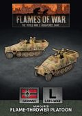 15mm WW2 German SdKfz 251 Flamethrower Platoon (2) (Plastic)