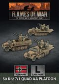 15mm WW2 German SdKfz 7/1 Quad AA Platoon (3)