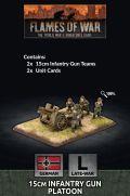 15mm WW2 German 15cm Infantry Gun Platoon (2)