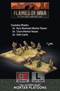 15mm WW2 German Fallschirmjager 8cm/12cm Mortar Platoon (4 each) (Plastic)