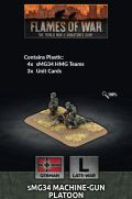 15mm WW2 German MG34 Machine-gun Platoon (4) (Plastic)