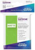 KÁRTYAVÉDŐ / DECK PROTECTORS - Ultimate Guard Supreme UX Sleeves - Solid - Matte Light Green (50)