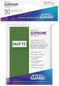 KÁRTYAVÉDŐ / DECK PROTECTORS - Ultimate Guard Supreme UX Sleeves - Solid - Matte Green (50)