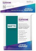 KÁRTYAVÉDŐ / DECK PROTECTORS - Ultimate Guard Supreme UX Sleeves - Solid - Matte Petrol (50)