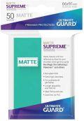 KÁRTYAVÉDŐ / DECK PROTECTORS - Ultimate Guard Supreme UX Sleeves - Solid - Matte Turquoise (50)