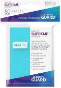 KÁRTYAVÉDŐ / DECK PROTECTORS - Ultimate Guard Supreme UX Sleeves - Solid - Matte Aquamarine (50)