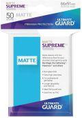 KÁRTYAVÉDŐ / DECK PROTECTORS - Ultimate Guard Supreme UX Sleeves - Solid - Matte Light Blue (50)
