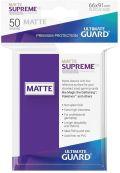 KÁRTYAVÉDŐ / DECK PROTECTORS - Ultimate Guard Supreme UX Sleeves - Solid - Matte Purple (50)