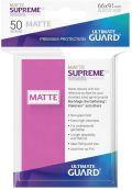 KÁRTYAVÉDŐ / DECK PROTECTORS - Ultimate Guard Supreme UX Sleeves - Solid - Matte Pink (50)