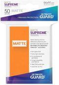 KÁRTYAVÉDŐ / DECK PROTECTORS - Ultimate Guard Supreme UX Sleeves - Solid - Matte Orange (50)