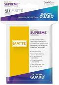KÁRTYAVÉDŐ / DECK PROTECTORS - Ultimate Guard Supreme UX Sleeves - Solid - Matte Yellow (50)