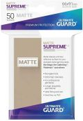 KÁRTYAVÉDŐ / DECK PROTECTORS - Ultimate Guard Supreme UX Sleeves - Solid - Matte Sand (50)